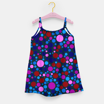 Miniatur Abstract Circles Girl's dress, Live Heroes