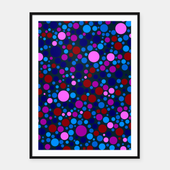 Miniatur Abstract Circles Framed poster, Live Heroes