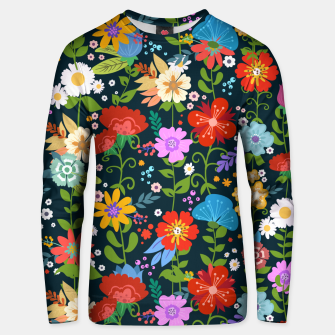 Thumbnail image of Flower Pattern Unisex sweater, Live Heroes