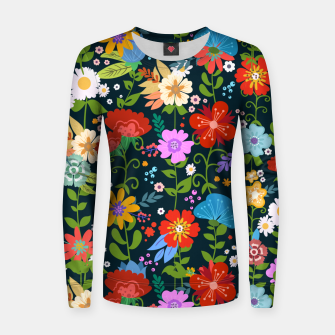Thumbnail image of Flower Pattern Women sweater, Live Heroes