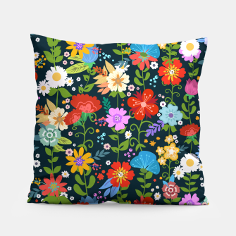 Thumbnail image of Flower Pattern Pillow, Live Heroes