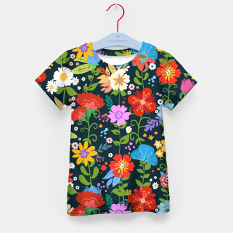 Thumbnail image of Flower Pattern Kid's t-shirt, Live Heroes