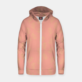 Thumbnail image of Feeling of lightness Pattern II - Melon color Zip up hoodie, Live Heroes