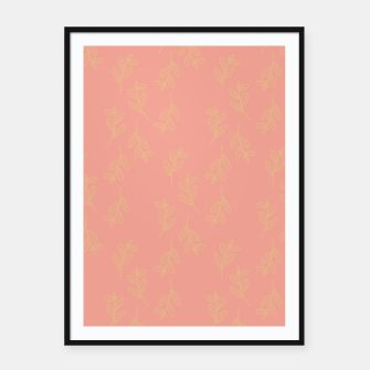 Thumbnail image of Feeling of lightness Pattern II - Melon color Framed poster, Live Heroes
