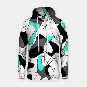 Thumbnail image of Abstract geometric pattern - turkiz, gray, black and white. Hoodie, Live Heroes