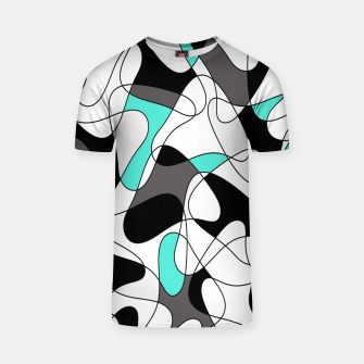 Thumbnail image of Abstract geometric pattern - turkiz, gray, black and white. T-shirt, Live Heroes