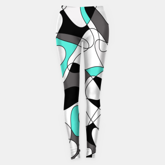 Thumbnail image of Abstract geometric pattern - turkiz, gray, black and white. Leggings, Live Heroes