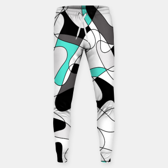 Thumbnail image of Abstract geometric pattern - turkiz, gray, black and white. Sweatpants, Live Heroes