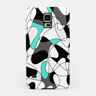 Imagen en miniatura de Abstract geometric pattern - turkiz, gray, black and white. Samsung Case, Live Heroes