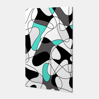 Thumbnail image of Abstract geometric pattern - turkiz, gray, black and white. Canvas, Live Heroes