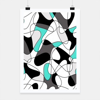Thumbnail image of Abstract geometric pattern - turkiz, gray, black and white. Poster, Live Heroes