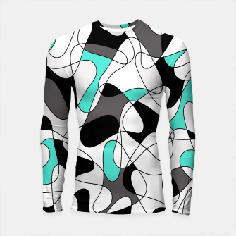 Thumbnail image of Abstract geometric pattern - turkiz, gray, black and white. Longsleeve rashguard , Live Heroes