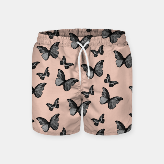 Thumbnail image of Black Pale Terracotta Butterfly Glam #1 #pattern #decor #art  Badeshorts, Live Heroes