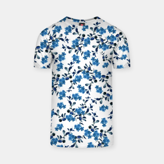 Thumbnail image of Blue Flower Pattern #2 #spring #floral #decor #art  T-Shirt, Live Heroes