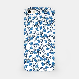 Miniature de image de Blue Flower Pattern #2 #spring #floral #decor #art  iPhone-Hülle, Live Heroes