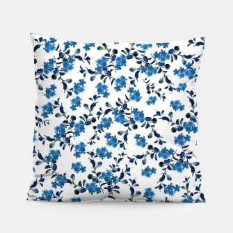 Miniature de image de Blue Flower Pattern #2 #spring #floral #decor #art  Kissen, Live Heroes