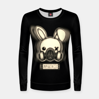 Miniatur Stay Home Bunny Women sweater, Live Heroes