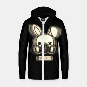 Miniatur Stay Home Bunny Zip up hoodie, Live Heroes