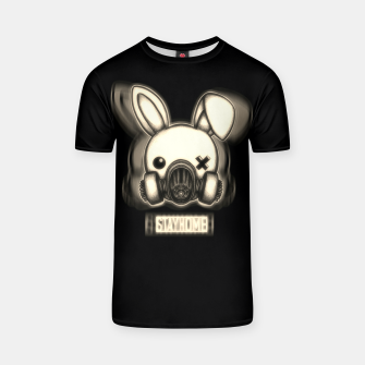 Miniatur Stay Home Bunny T-shirt, Live Heroes