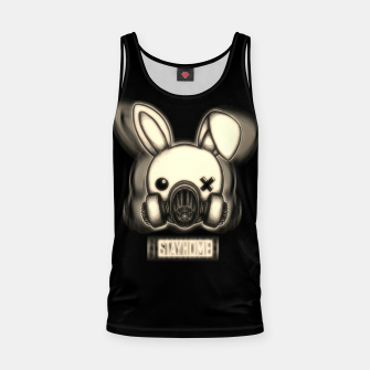 Miniatur Stay Home Bunny Tank Top, Live Heroes