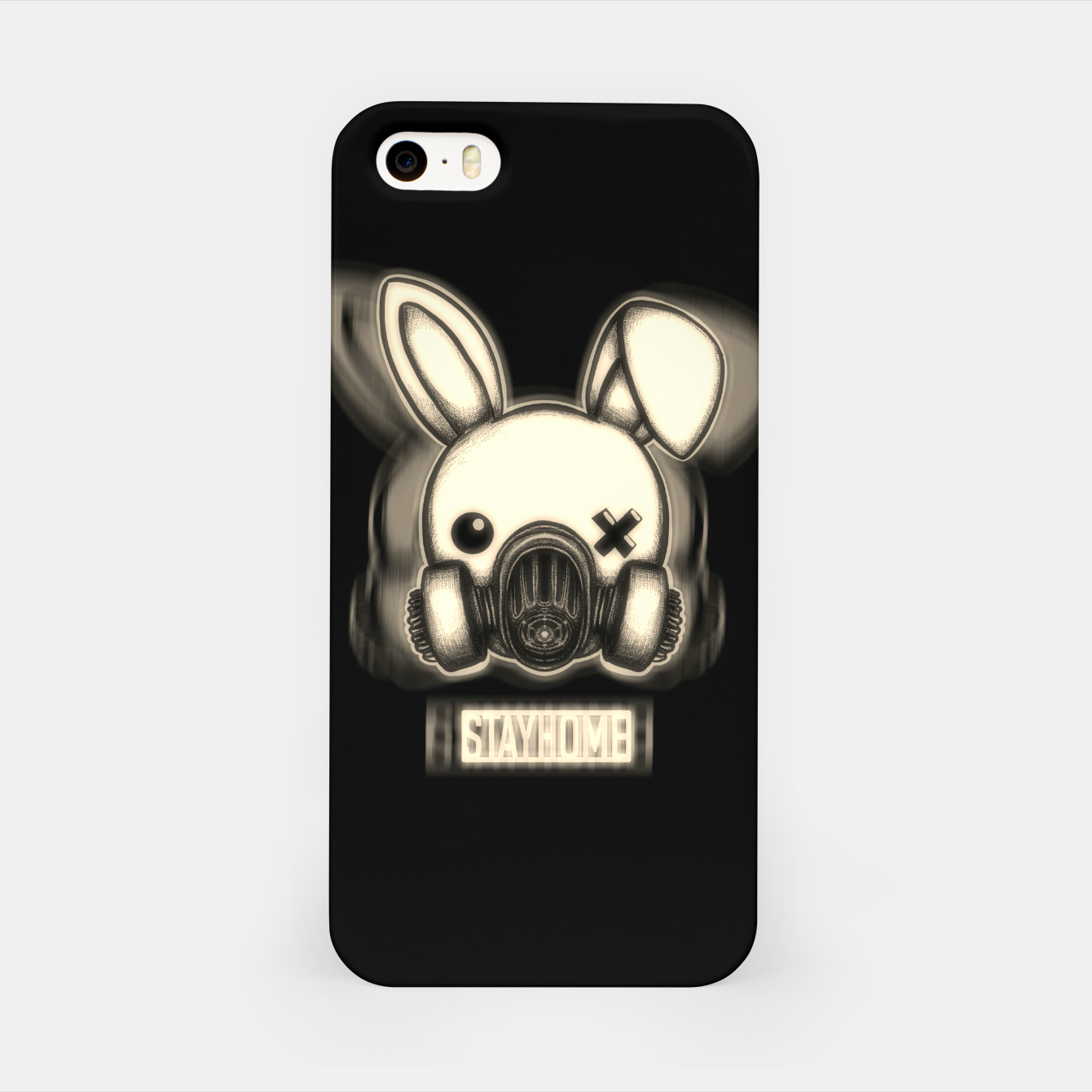 Foto Stay Home Bunny iPhone Case - Live Heroes