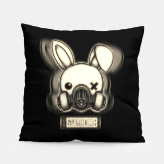 Miniatur Stay Home Bunny Pillow, Live Heroes