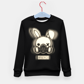 Miniatur Stay Home Bunny Kid's sweater, Live Heroes