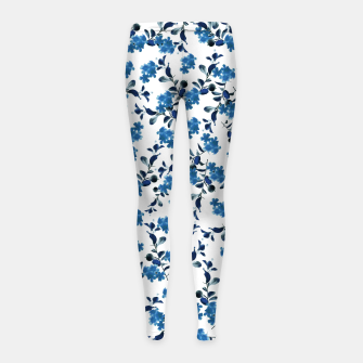 Miniature de image de Blue Flower Pattern #2 #spring #floral #decor #art  Kinder-Leggins, Live Heroes