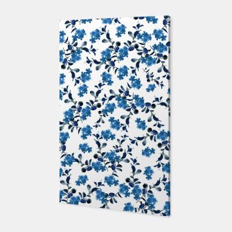 Miniature de image de Blue Flower Pattern #2 #spring #floral #decor #art  Canvas, Live Heroes