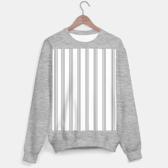 Miniaturka Minimal Black White Stripe Glam #3 #lines #decor #art  Sweatshirt regulär, Live Heroes