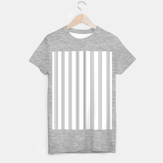 Miniaturka Minimal Black White Stripe Glam #3 #lines #decor #art  T-Shirt regulär, Live Heroes