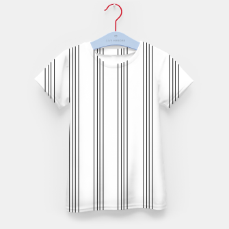 Miniaturka Minimal Black White Stripe Glam #3 #lines #decor #art  T-Shirt für kinder, Live Heroes