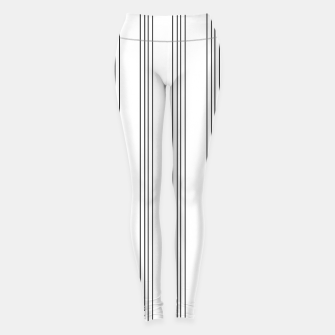 Miniaturka Minimal Black White Stripe Glam #3 #lines #decor #art  Leggings, Live Heroes