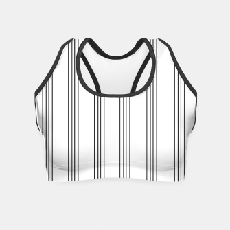 Miniaturka Minimal Black White Stripe Glam #3 #lines #decor #art  Crop Top, Live Heroes