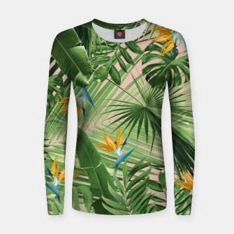 Miniaturka Bird of Paradise Jungle Leaves Dream #2 #tropical #decor #art  Frauen sweatshirt, Live Heroes
