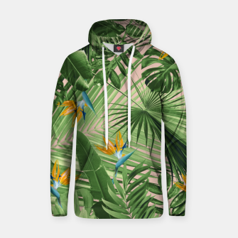 Miniaturka Bird of Paradise Jungle Leaves Dream #2 #tropical #decor #art  Kapuzenpullover, Live Heroes