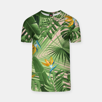 Miniaturka Bird of Paradise Jungle Leaves Dream #2 #tropical #decor #art  T-Shirt, Live Heroes