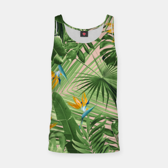 Thumbnail image of Bird of Paradise Jungle Leaves Dream #2 #tropical #decor #art  Muskelshirt , Live Heroes