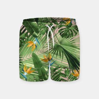 Miniaturka Bird of Paradise Jungle Leaves Dream #2 #tropical #decor #art  Badeshorts, Live Heroes