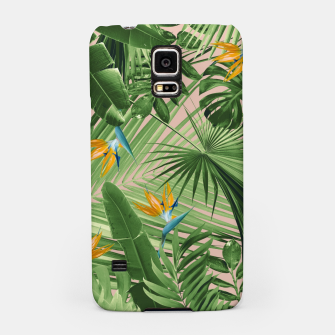 Miniaturka Bird of Paradise Jungle Leaves Dream #2 #tropical #decor #art  Handyhülle für Samsung, Live Heroes