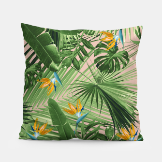 Thumbnail image of Bird of Paradise Jungle Leaves Dream #2 #tropical #decor #art  Kissen, Live Heroes