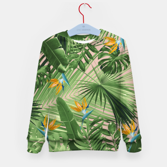Thumbnail image of Bird of Paradise Jungle Leaves Dream #2 #tropical #decor #art  Kindersweatshirt, Live Heroes