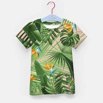 Thumbnail image of Bird of Paradise Jungle Leaves Dream #2 #tropical #decor #art  T-Shirt für kinder, Live Heroes