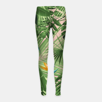 Thumbnail image of Bird of Paradise Jungle Leaves Dream #2 #tropical #decor #art  Kinder-Leggins, Live Heroes