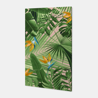 Miniaturka Bird of Paradise Jungle Leaves Dream #2 #tropical #decor #art  Canvas, Live Heroes