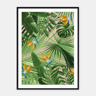 Miniaturka Bird of Paradise Jungle Leaves Dream #2 #tropical #decor #art  Plakat mit rahmen, Live Heroes