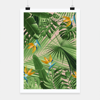 Miniaturka Bird of Paradise Jungle Leaves Dream #2 #tropical #decor #art  Plakat, Live Heroes
