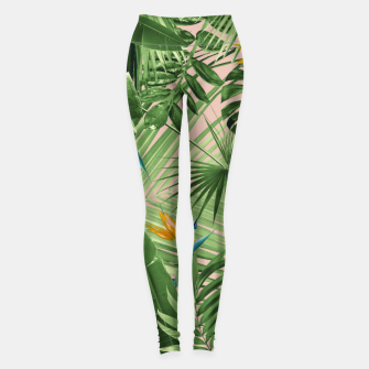 Miniaturka Bird of Paradise Jungle Leaves Dream #2 #tropical #decor #art  Leggings, Live Heroes