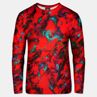 Fluttering red Unisex sweater thumbnail image