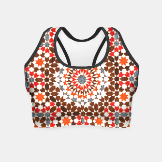 Thumbnail image of Geometric Traditional Moroccan Islamic Artwork Crop Top, Live Heroes